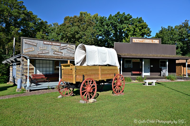 """STAGE COACH, MEDICAL BUILDING, AND GENERAL STORE"""