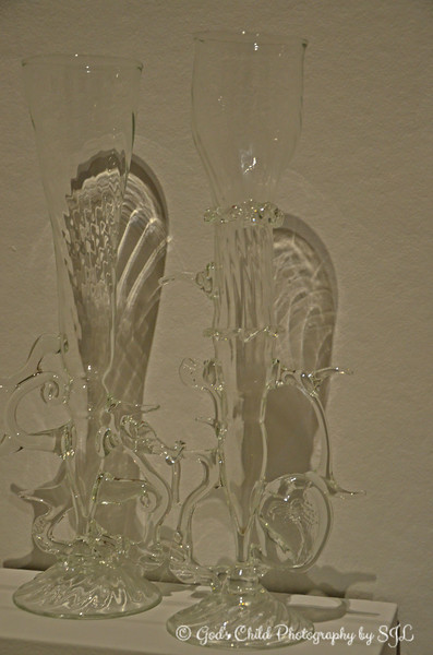 """""""PAIR OF CHAMPAGNE GOBLETS"""" (1976) by Fritz Dreisbach"""
