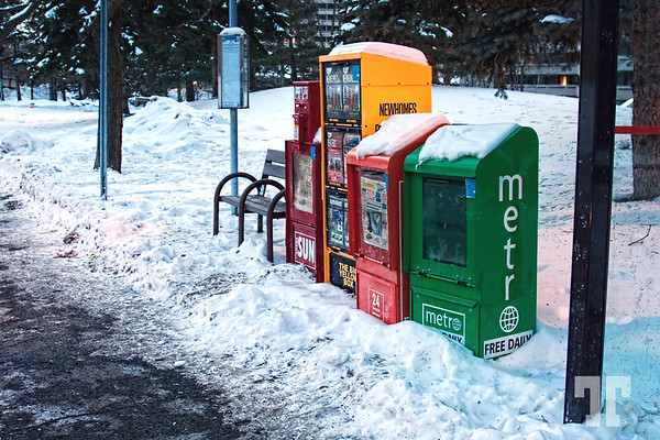 December 21, 09  Bus stop. Ottawa Canada