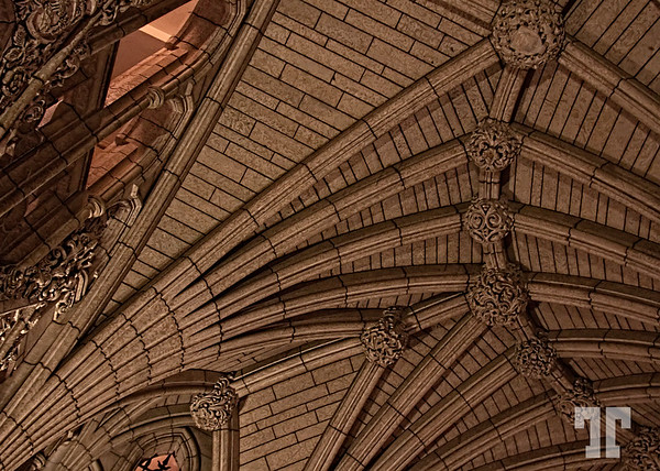 Gothic arches  Detail of the Parliament building's celling. Ottawa Canada, Canada Ottawa  December 13, 09