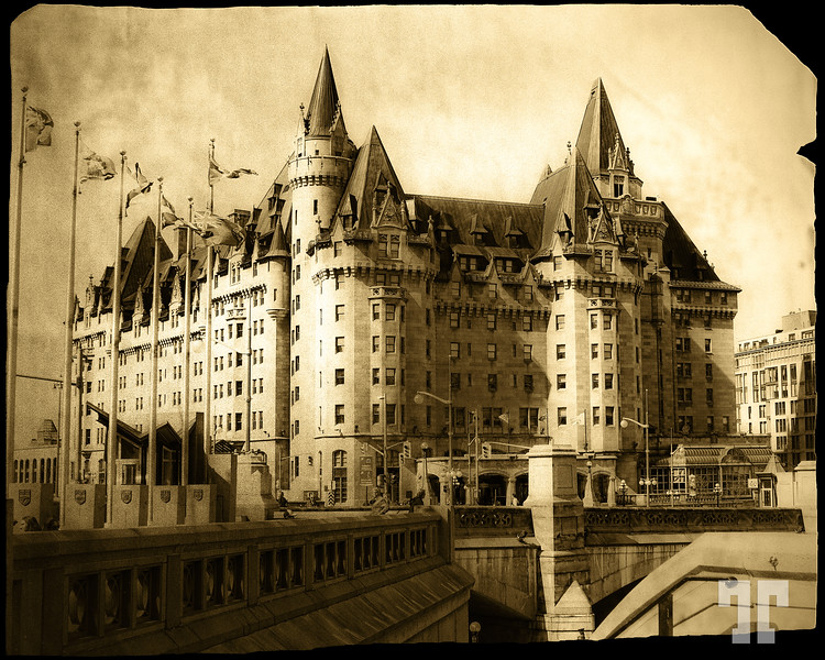 """Chateau Laurier, Ottawa - A century of existence  Winner of the DSS #100 """"Photography 100 yrs ago"""" !  The hotel was to be opened on 26 April 1912, but Charles Melville Hays, who was returning to Canada for the hotel opening, perished on Titanic when it sank on 15 April. A subdued opening ceremony was held on 12 June 1912, with Sir Wilfrid Laurier in attendance."""