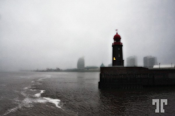 Lighthouse in the fog Bremerhaven, Germany