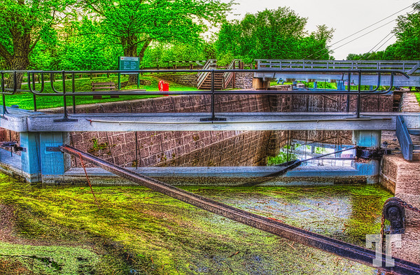 Upper Nicholson lock, on Rideau canal, Canada