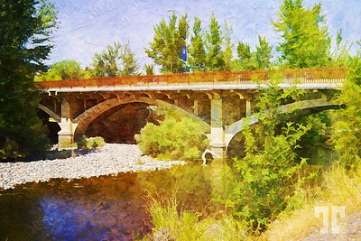 Salmon River in Salmon, Idaho - Ditigal paint