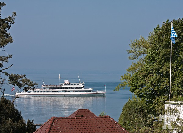 April 27, 2011  Ferryboat crossing Lake Constance (Bodensee) at Nonnenhorn Bodensee-Lake-Constance  (ZZ)