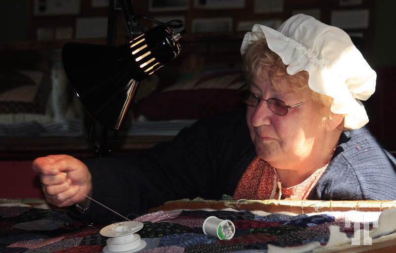 19 Sept. 08  Quilt maker from 18 century - Sherbrook pioneers village, Nova Scotia, Canada  See the photo in the actual gallery: http://allbiz.smugmug.com/gallery/6608149_6vDnb#421203503_889ug