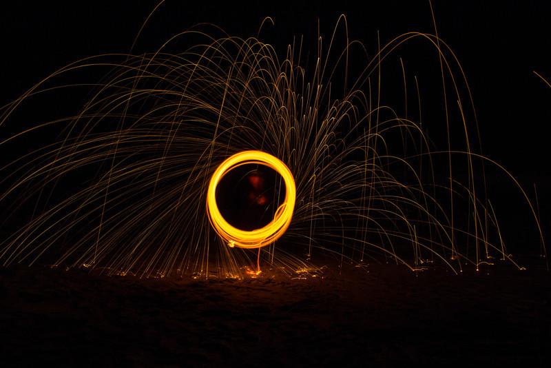 First attempt at steel wool.  This was so fun...