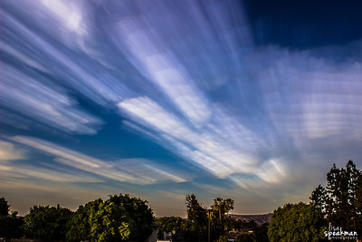 Day 123 - Smeared Clouds Tried out Matt Molloy's Smeared Skies technique tonight.  This is a time lapse of 265 shots stacked together.   Check out the article on Matt's awesome shots that I'm sure I'll never be able to duplicate:  http://www.thisiscolossal.com/2013/04/smeared-skies-made-from-hundreds-of-stacked-photographs-by-matt-molloy/