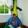 """""""ENJOYING A GOOD BOOK IN JURASSIC PARK"""" (unofficial title by me)"""