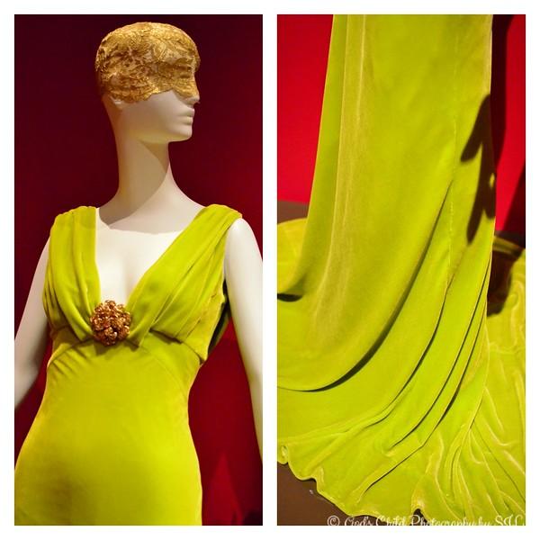"""EVENING DRESS and BROOCH"" (Fall, 2013) by Oscar de la Renta"