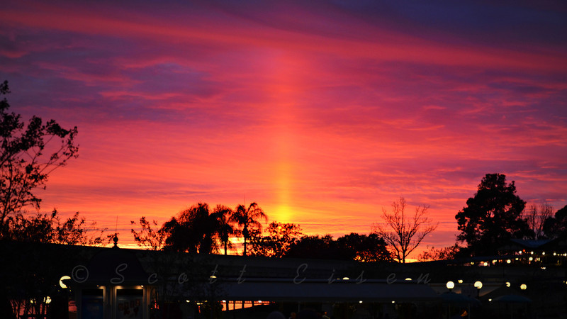 Magical Sunset in the Magic Kingdom<br /> <br /> Daily Photos - February 1, 2013