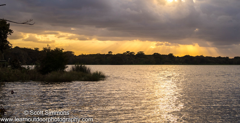 Sunset over Lake Jesup