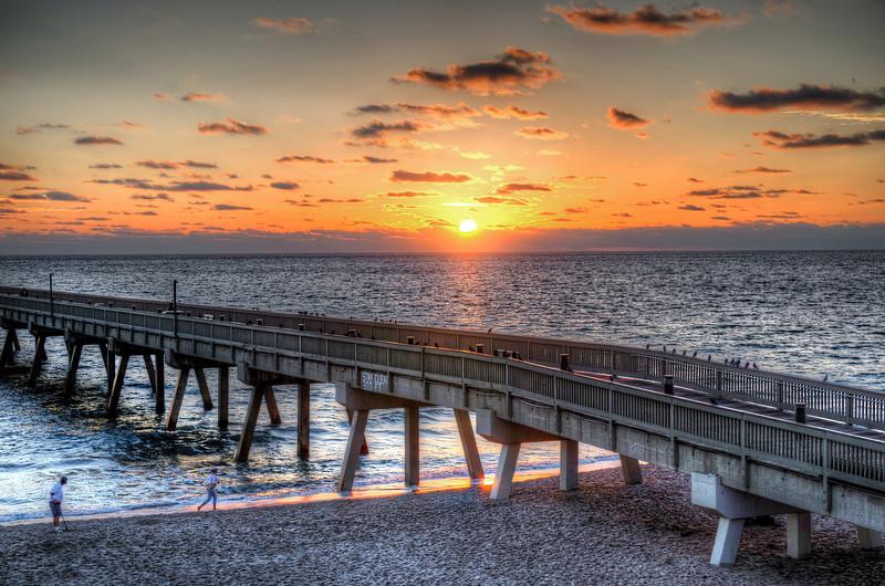 Sunrise off the pier