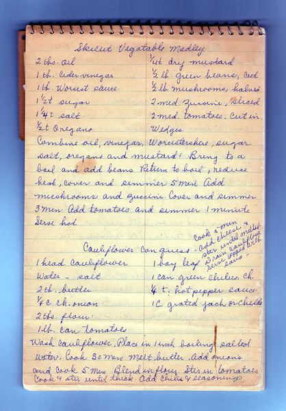 02.26.15<br /> <br /> Scanned page of Grandma's recipes.<br /> <br /> Had problems with smug yesterday.<br /> <br /> Again today this is not appearing in the dailies. Oh well.
