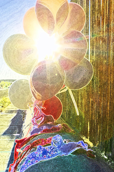 03.25.12<br /> <br /> Bras and Balloons at Sunset