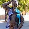"09.25.12<br /> <br /> Another statue from the Betty Sabo Sculpture at UNM. I wonder what this man thinks about all the blue bras? Or perhaps he is scratching his head as he thinks about prostate cancer. Maybe he thinks it would never happen to him.....<br /> <br /> Posting early for tomorrow and going to bed. It has been a long day, but my homework is done (YAY!) More to do tomorrow.<br /> <br /> Because Indigo can't download her pictures until she has some $$$$.... and because she is going crazy doing homework and living life in general, she suggested the Sisterhood share her blog. She is serving an election related internship this semester and the blog is related to that: <a href=""http://unmtinacj279blog.blogspot.com/"">http://unmtinacj279blog.blogspot.com/</a>"