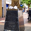 "09.04.12<br /> <br /> Jennifer stopped in Swindon.<br /> <br /> She said, ""I wanted to bring this lion home with me. It was so cute.""<br /> <br /> More of Jennifer's visit to Swindon can be found here: <a href=""http://sisterhoodofthebras.smugmug.com/Jennifer/Jennifer-in-Swindon/25189973_mVqCNp#!i=2066637852&k=C5Q54tX"">http://sisterhoodofthebras.smugmug.com/Jennifer/Jennifer-in-Swindon/25189973_mVqCNp#!i=2066637852&k=C5Q54tX</a><br /> <br /> Photo courtesy of Becky Fyfe--Host #5"
