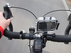 2015-12-14: New bike toys are always fun. This one being a helmet or bar mountable video and still camera with waterproof case. It is mounted on the bars because my headlight has taken up the available helmet space.