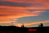2016-07-03: Sunset over the store after my closing shift last night.