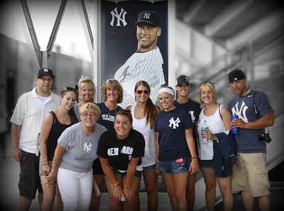 The whole Family together for a trip to Yankee Stadium..... What a great day... Have a great day everyone....