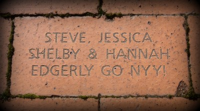 This is a pic of a gift given to me by my daughter. This brick was purchased as a fund raiser to help in refurbishing doubleday field in Cooperstown N.Y.  To me this is the gift that keeps giving and others will be able to enjoy this beautiful park for years to come. Have a great day everyone....