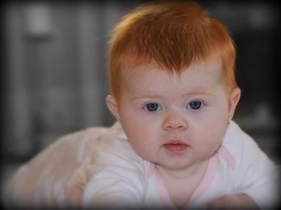 This is the newest addition to my extended family. This is Ellie my cousin's newest bundle of joy not sure where all the red hair come's from but it sure is beautiful. Have a great day everyone.....