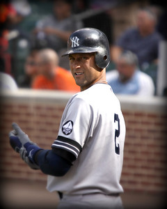 DEREK JETER.... The captain and leader of the New York Yankees.... Have a great day..This shot I took at a game at Camden Yards Baltimore