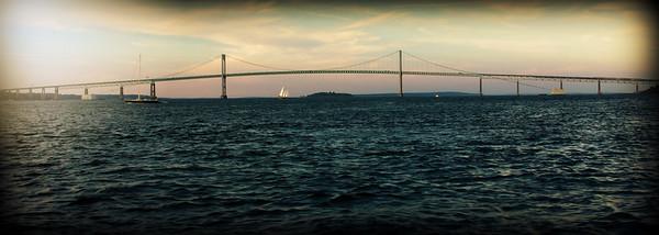 The Newport Bridge.