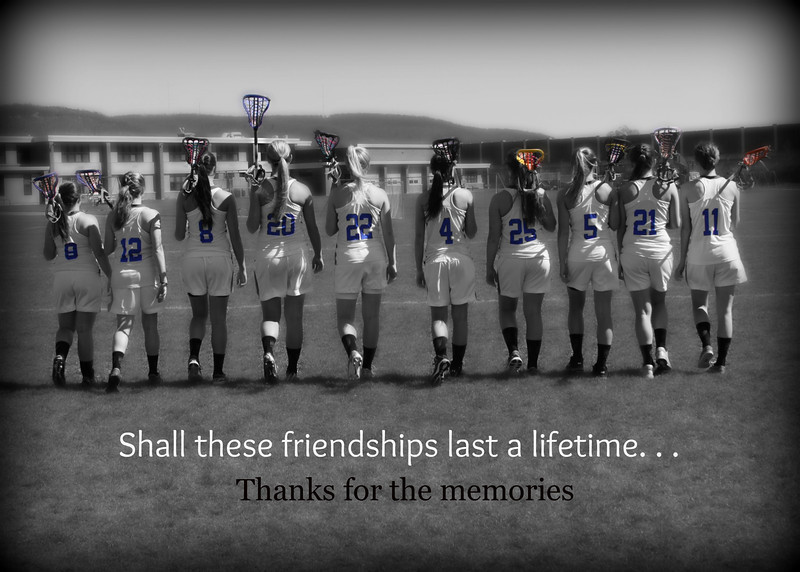 The senior class of 2013 at Horseheads high. The end of a long and fun career where friendships were made.  This shot was a gift to the girls on there senior day.