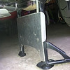 """Centerstand skidplate for the 2013 R1200GSW. Hand fabricated from 1/8"""" aluminum. Comes with formed aluminum mounting straps and countersunk stainless steel mounting hardware. <br /> Price: $55.00  Email me at dakotabeemer@hotmail.com to order."""