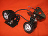 Second generation KLR650 light mounts with 10 watt LED lights attached. Price per pair $160.00