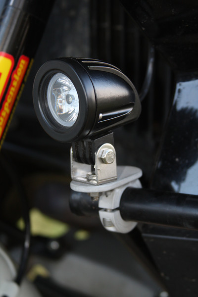 "Cree 10 watt lights on 1"" clamp on mounts. Cost $170.00 a pair. <br /> Contact me at dakotabeemer@hotmail.com to order."