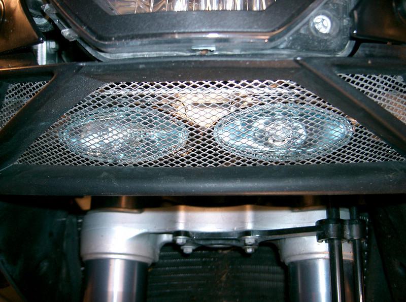 Piaa lights on a KTM 950 adventure.