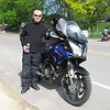 Carl and his 650 V-Strom. Photo was taken at the 2009 Hiawatha Rally.