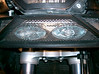 These are the lights as they shinr through the grill. The grill can be removed for a more intense light.