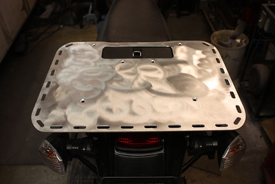 Rear view cargo rack for the second generation KLR650.