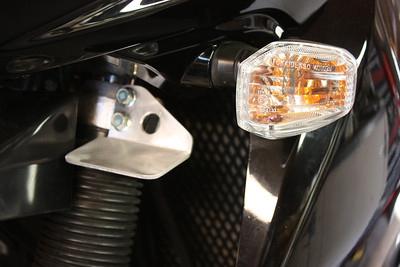 """Aux light mount for the second generation KLR 650. Wiil be powdercoated in a satin black wrinkle finish. The mounting surface measures 2"""" X 3"""". Can be drilled to suit many different small driving lights. Cost is $50.00 a pair."""