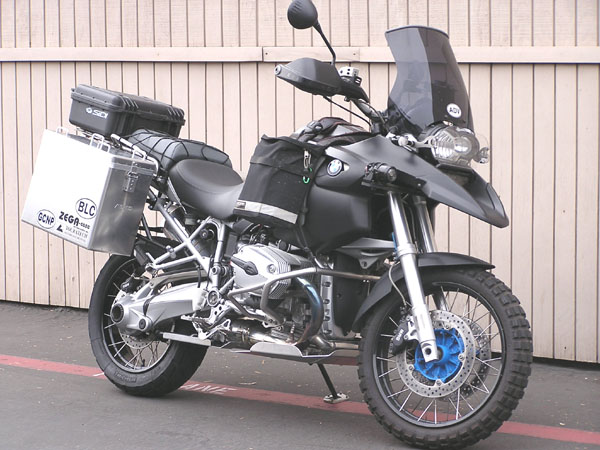 "R1200GS adventure with engine & centerstand skidplate installed. This is the ""No holes"" version engine skidplate. <br /> Engine skidplate price: $130.00<br /> Centerstand skidplate price: $55.00"