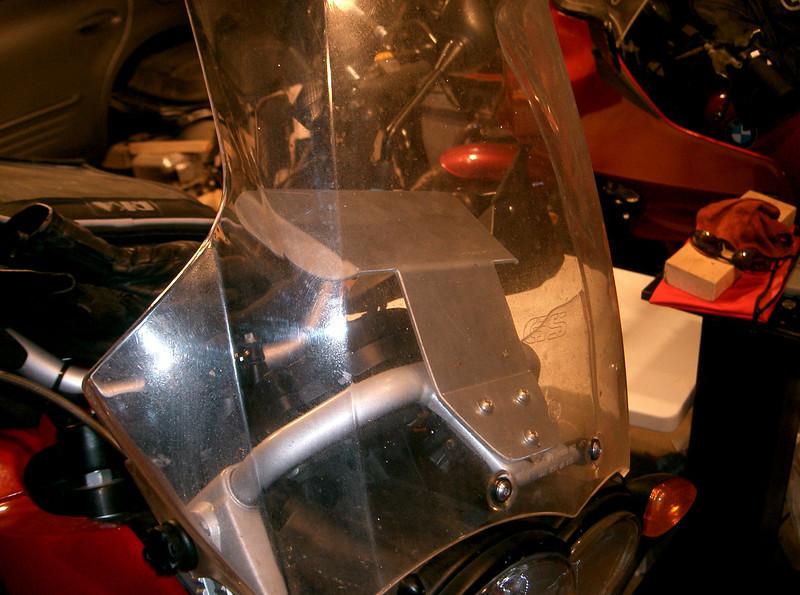 Aluminum shelf for the R1200GS. Price $60.00