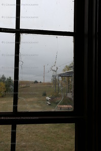 Bullet hole in window from Dances With Wolves Scene.