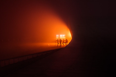 Orange night in Dalian