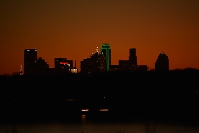 Dallas Skyline After Sunset