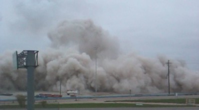 iPhone Captures of the Texas Stadium Implosion