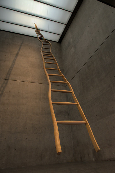 Ladder for Booker T Washington by Martin Puryear at the Modern Art Museum of Fort Worth, Texas, 4 May 2012.