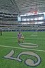 Matt Mills on the 50-yard line at Dallas Cowboys Stadium. Arlington, Texas, 4 May, 2012.