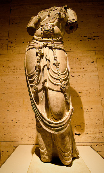 Tang Dynasty Bodhisattva Torso at Kimbell Art Museum Fort Worth, Texas, 4 May 2012.