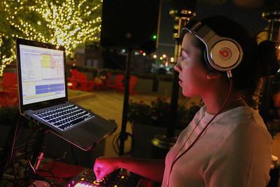 DJ Girlbot doing her thing