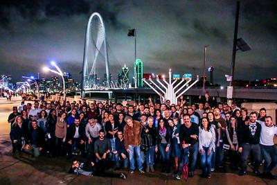 2015 Intown Chabad 9th Annual Menorah Lighting at Margaret Hunt Hill bridge Downtown Dallas Texas