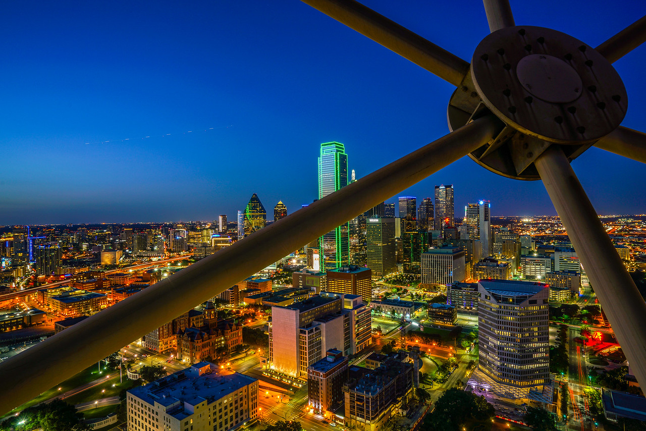 From the Reunion Tower Observation deck 3