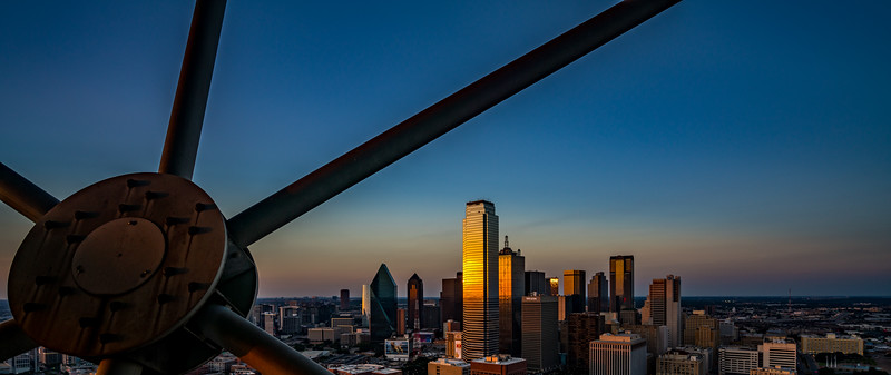 From the Reunion Tower Observation deck at sunset